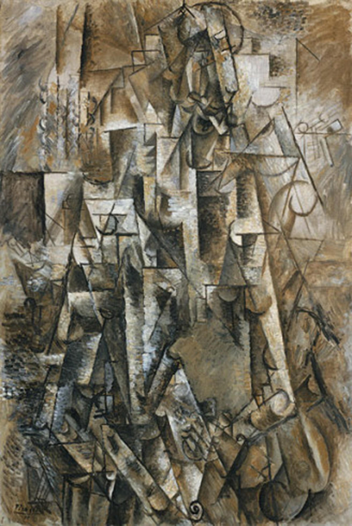 Pablo_Picasso,_1911,_The_Poet_(Le_poète),_Céret,_oil_on_linen,_131.2_×_89.5_cm,_The_Solomon_R._Guggenheim_Foundation,_Peggy_Guggenheim_Collection,_Venice