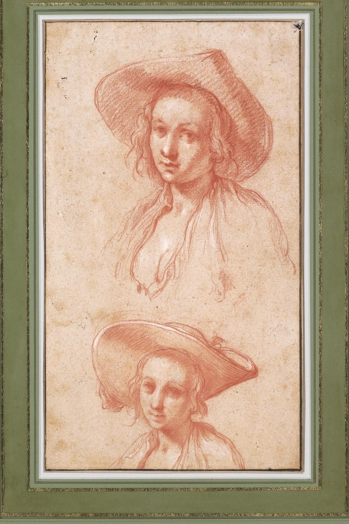 10.Sketch of two women in hats_1