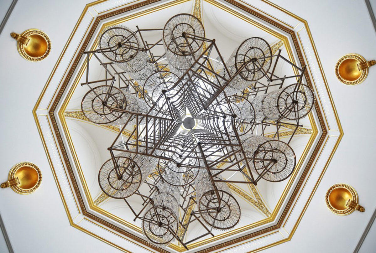 Ai's-installation-'Bicycle-Chandelier'-(2015).