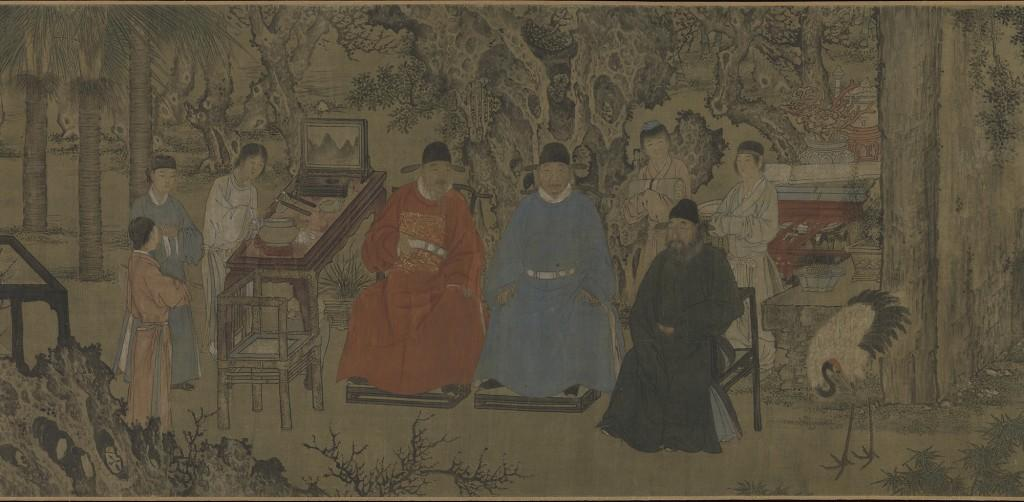 3. Elegant Gathering in the Apricot Garden