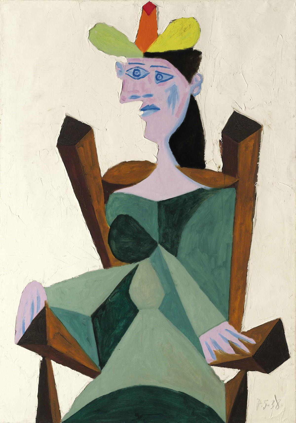 Pablo-Picasso_Femme-assise-sur-une-chaise