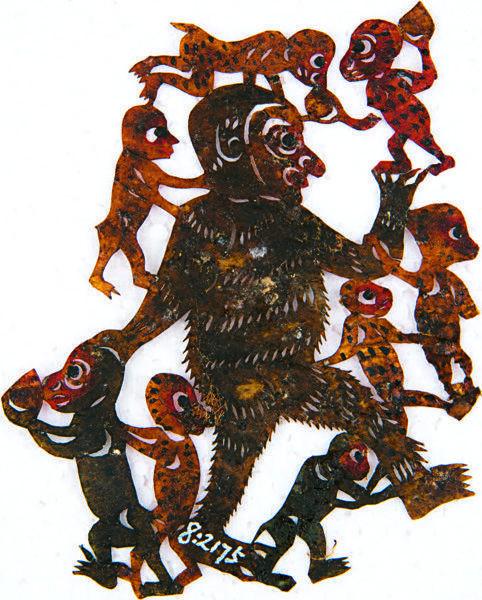 清末皮影戏猴子