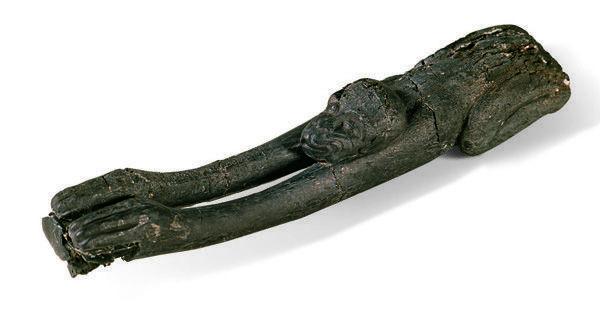 西汉木雕长臂猿