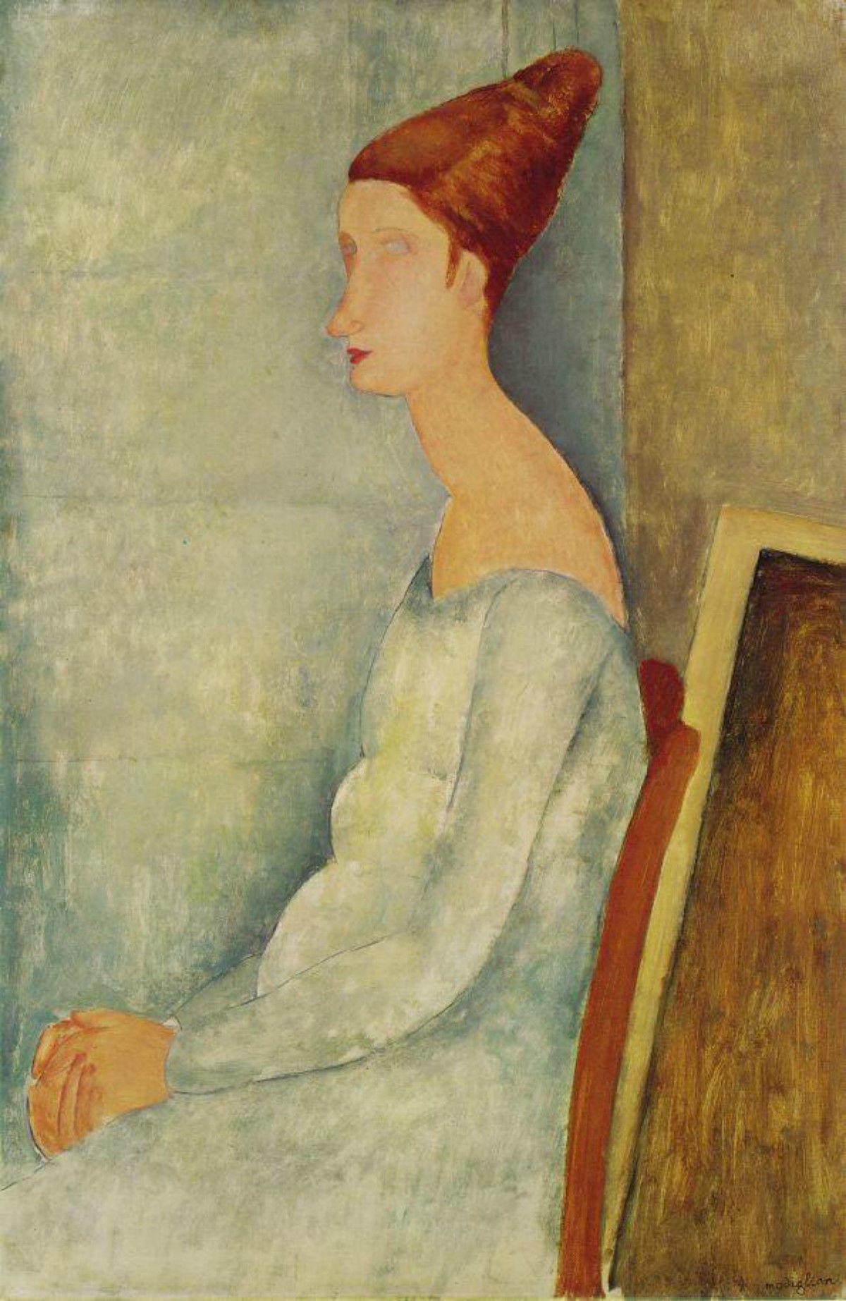 Amedeo_Modigliani_Jeanne_Hebuterne_assise_de_profil