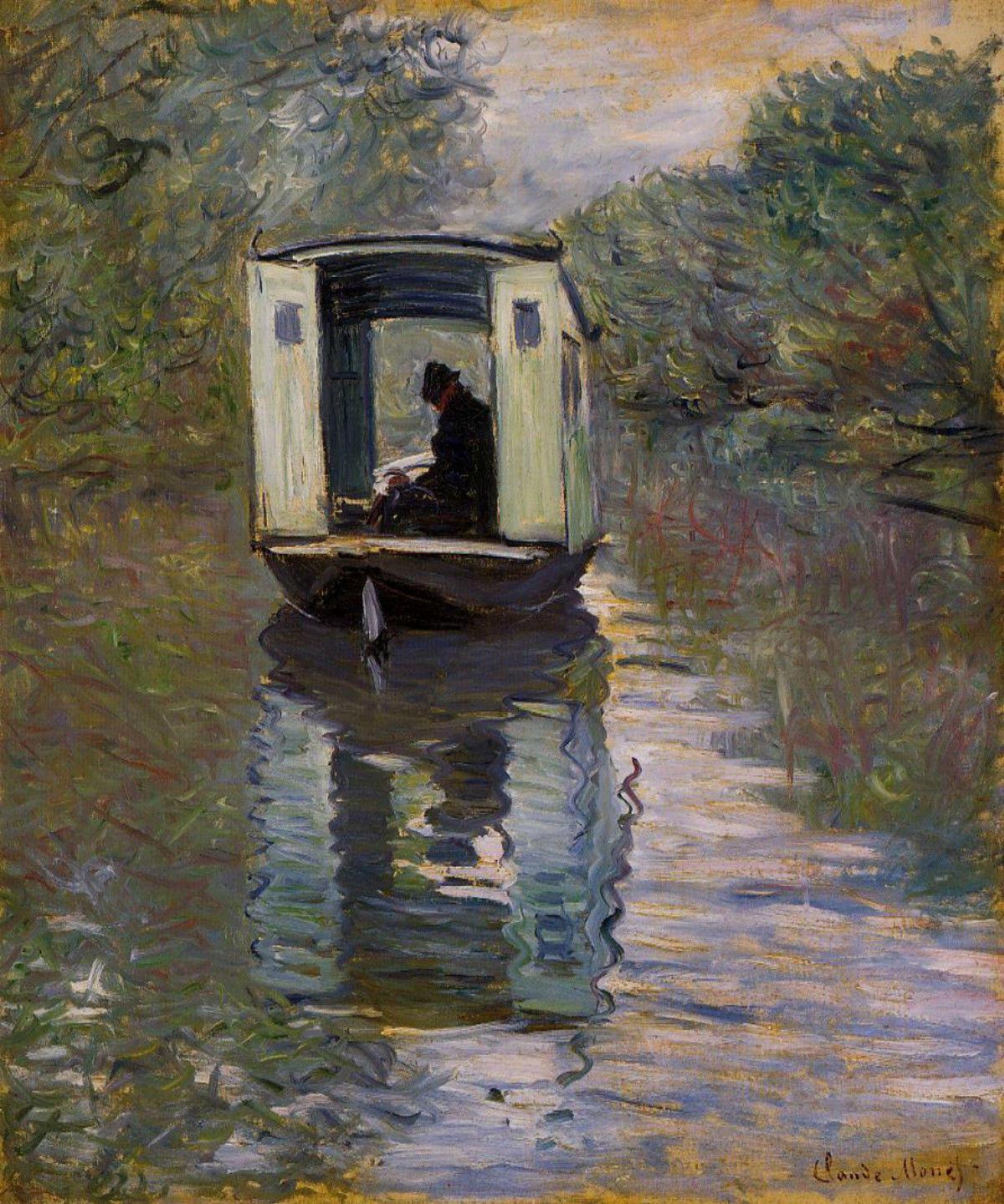 Claude_Monet_Le_bateau_atelier
