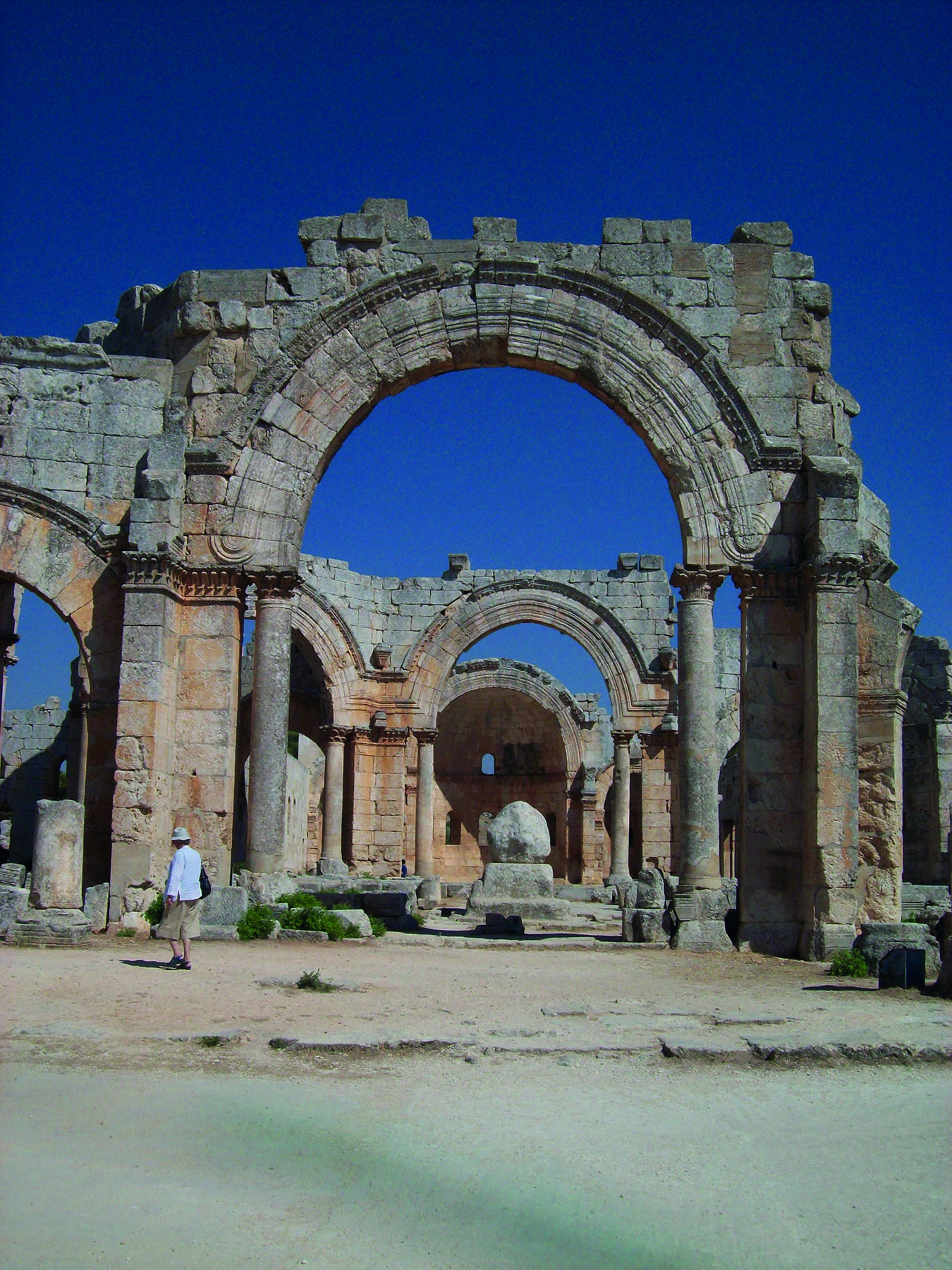 The church of St Simeon Stylites in Syria, before it was bombed earlier this year. J P BURGESS