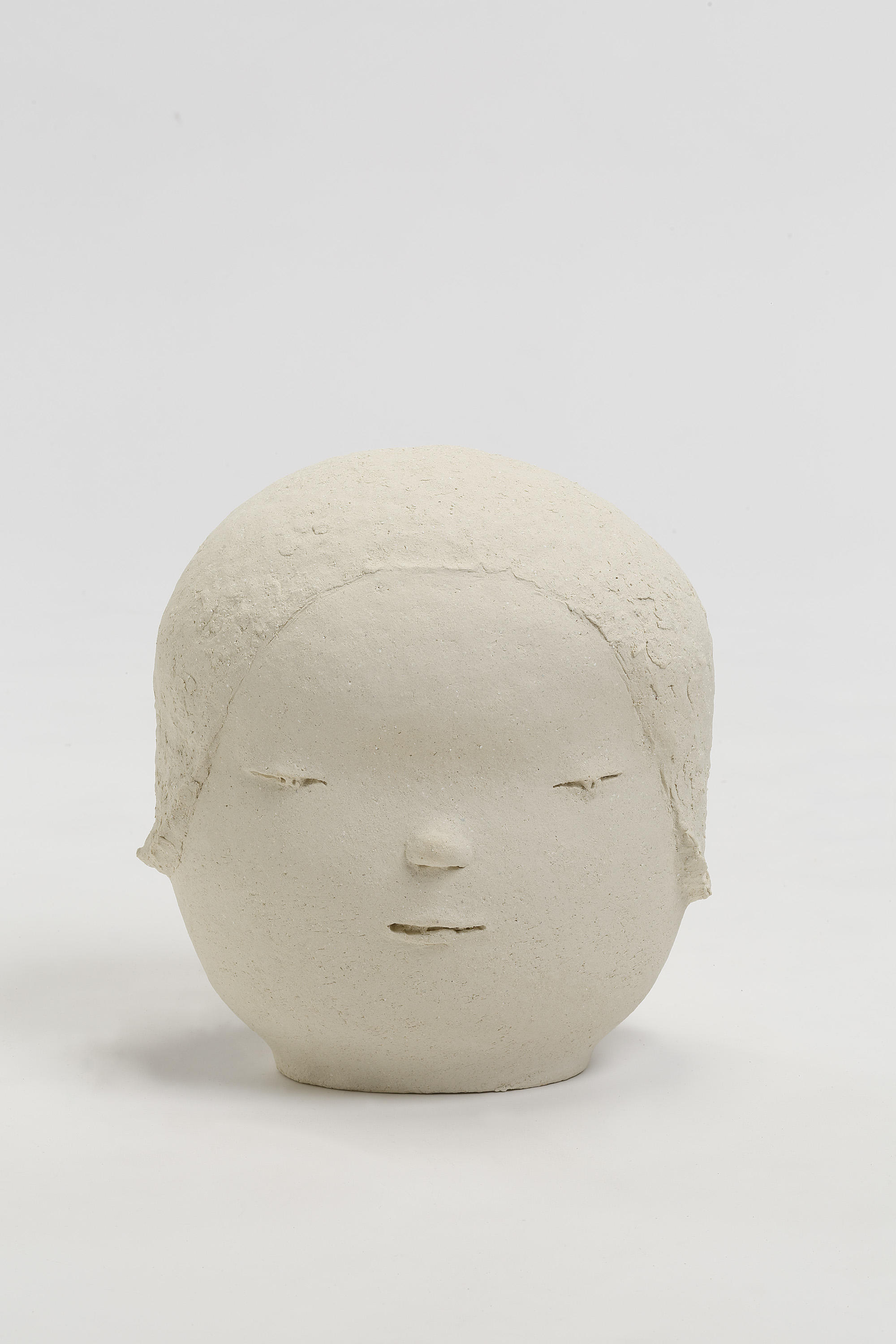 "Yoshitomo Nara, Head 1, 2018,  11-7/16"" x 10-5/8"" x 8-7/16"" (29.1 cm x 27 cm x 21.4 cm),  SCULPTURE,  No. 68819, view 1,  Alt # C-2018-022, Format of original photography: hi-res TIFF"