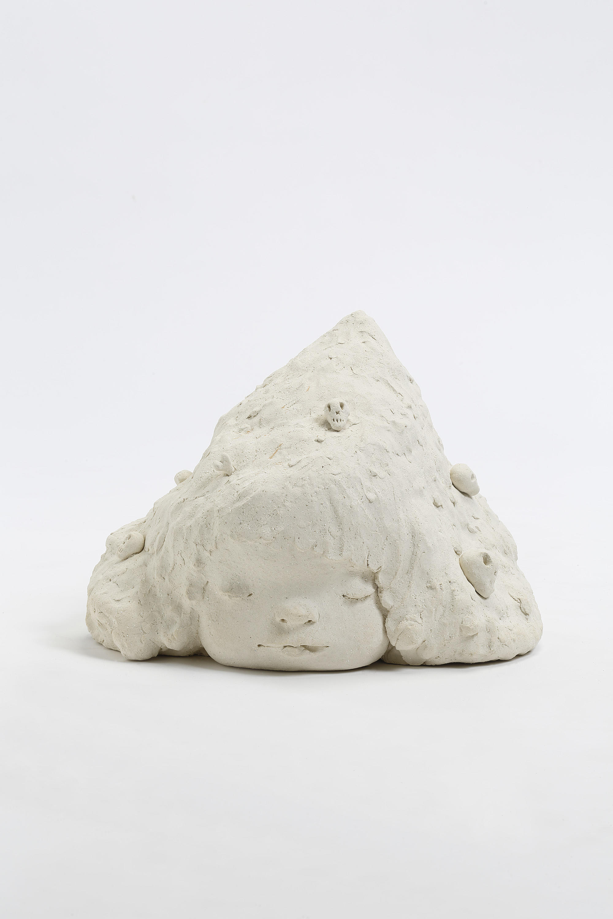 "Yoshitomo Nara, Ahunrupar, 2018,  ceramic,  12-11/16"" x 17-7/16"" x 15-1/4"" (32.2 cm x 44.3 cm x 38.7 cm),  SCULPTURE,  No. 68827, view 3,  Alt # C-2018-030,  Format of original photography: hi-res TIFF"
