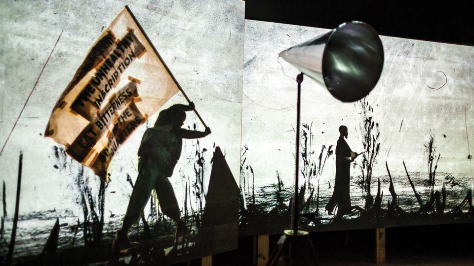 "William Kentridge: ""More Sweetly Play the Dance"" May 19–Sunday, January 20, 2019 MDC Museum of Art and Design Freedom Tower, 2nd Floor Photo: Francisco Moraga"