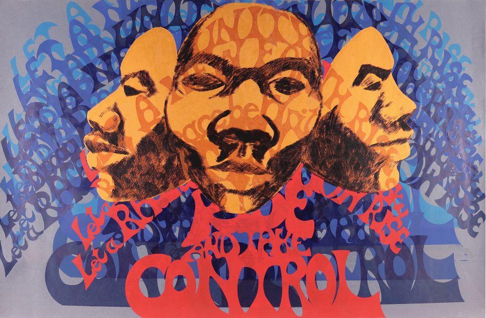 Barbara Jones-Hogu, Rise and Take Control screenprint, 1970 Photo courtesy of Barbara Jones Hogu