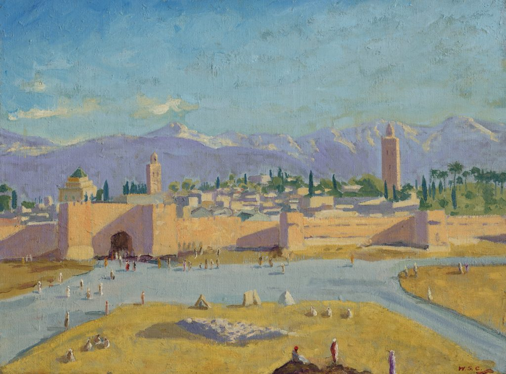 Sir Winston Churchill, Tower of the Koutoubia Mosque (1943). Courtesy of Christie's Image Ltd.