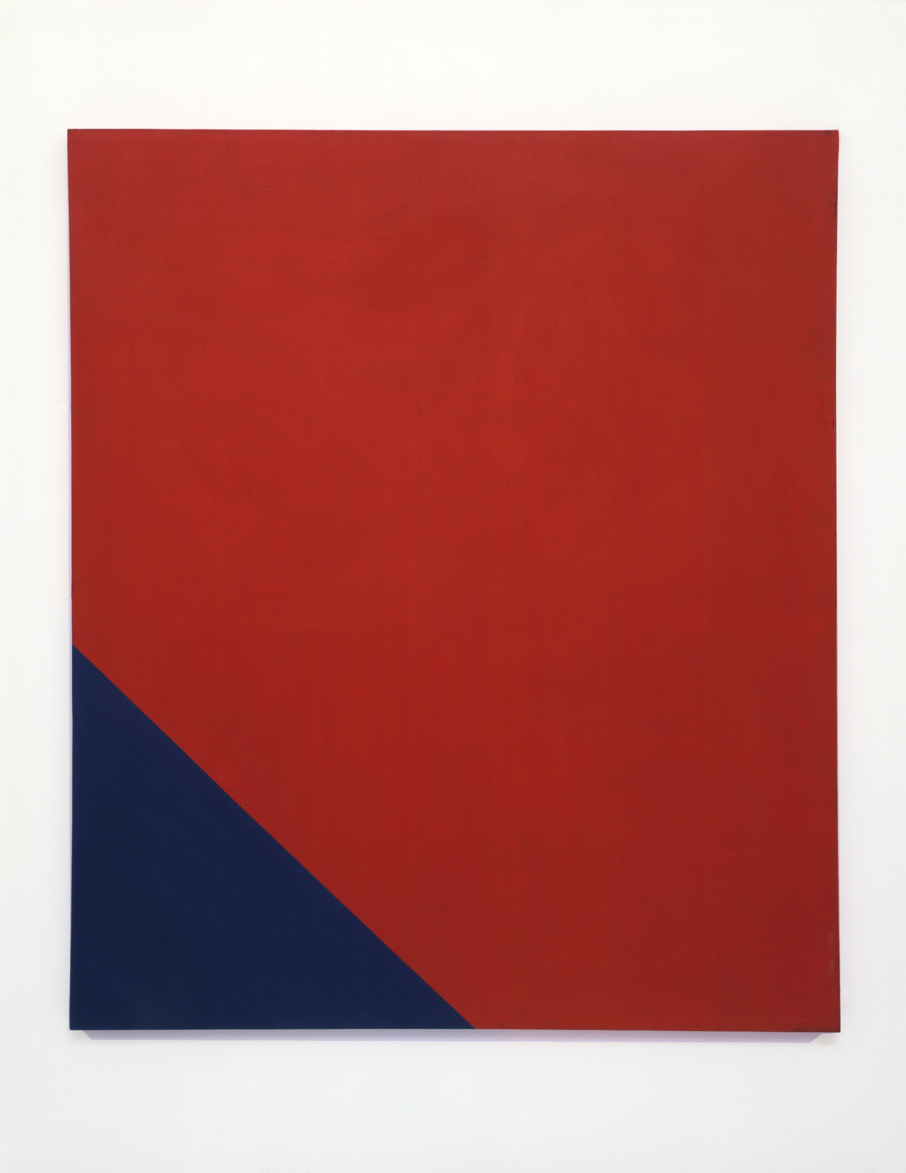 """MARY CORSE UNTITLED (RED – BLUE SERIES), 1964 ACRYLIC ON CANVAS 78"""" X 52"""""""